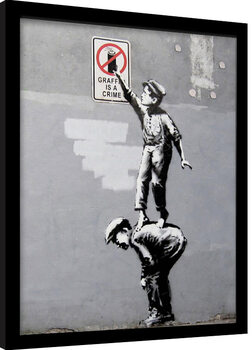Keretezett Poszter Banksy - Grafitti