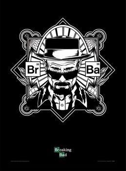 BREAKING BAD - TOTÁL SZÍVÁS - obey heisenberg üveg keretes plakát