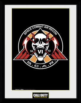 Call of Duty Infinite Warfare - Scar Logo üveg keretes plakát