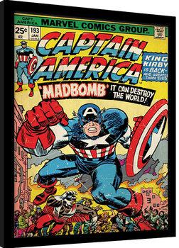 Keretezett Poszter Captain America - Madbomb
