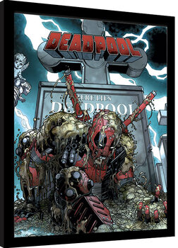 Keretezett Poszter Deadpool - Grave