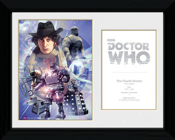 Doctor Who - 4th Doctor Tom Baker Keretezett Poszter