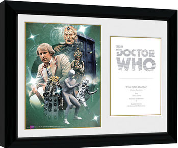 Doctor Who - 5th Doctor Peter Davison Keretezett Poszter