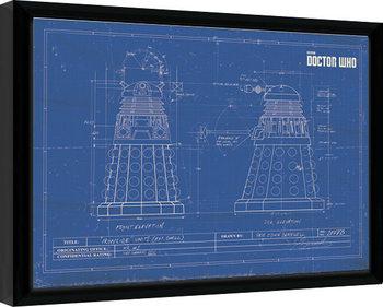 Keretezett Poszter Doctor Who - Dalek Blueprint