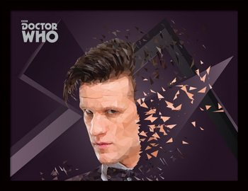 Doctor Who (Ki vagy, doki?) - 11th Doctor Geometric üveg keretes plakát