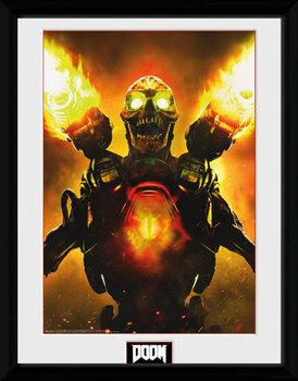 Doom - Key Art üveg keretes plakát