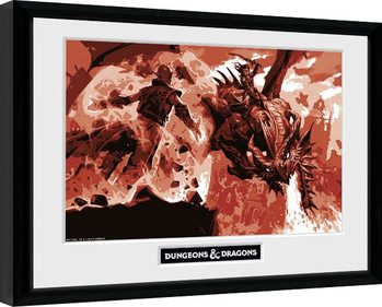 Dungeons & Dragons - Red Dragon Keretezett Poszter