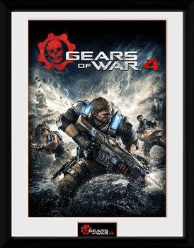 Gears of War 4 - Game Cover üveg keretes plakát