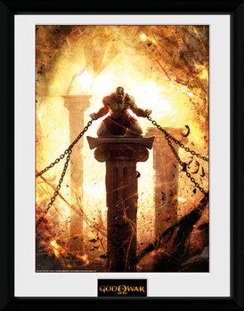 God of War - Kratos Chained üveg keretes plakát