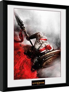 God of War - Kratos Sparta Wing Keretezett Poszter
