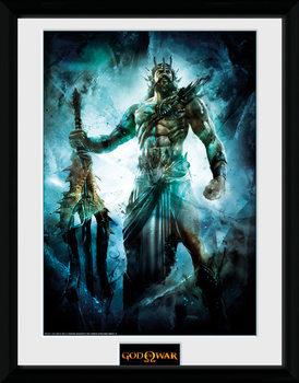God of War - Poseidon üveg keretes plakát