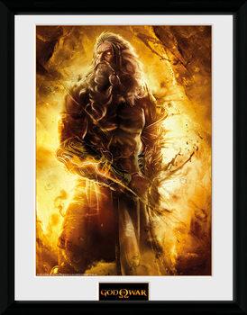 God of War - Zeus üveg keretes plakát