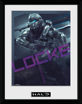 Halo 5 - Locke üveg keretes plakát