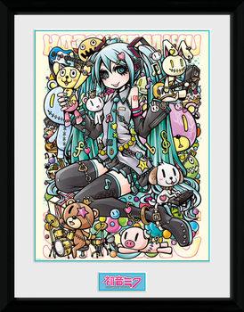 Hatsune Miku - Kawaii üveg keretes plakát