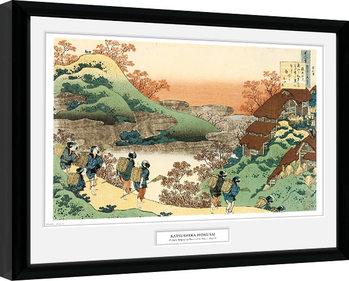 Hokusai - Women Returning Home Keretezett Poszter