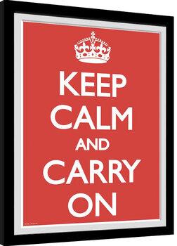 Keretezett Poszter Keep Calm And Carry On