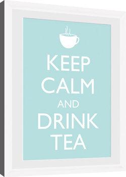 Keep Calm - Tea (White) Keretezett Poszter