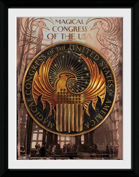 Legendás állatok és megfigyelésük - Magical Congress üveg keretes plakát