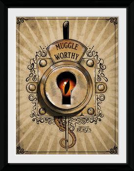 Legendás állatok és megfigyelésük - Muggle Worthy üveg keretes plakát