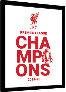 Keretezett Poszter Liverpool FC - Champions 19/20