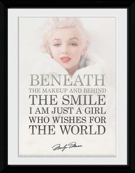 Marilyn Monroe - Beneath üveg keretes plakát