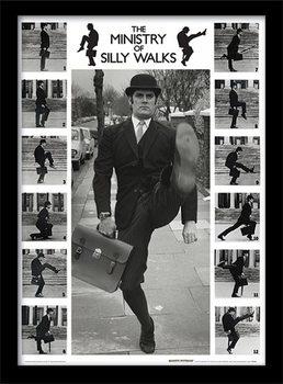 MONTY PYTHON - ministry of silly walks üveg keretes plakát