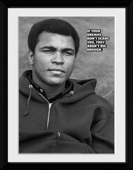 Muhammad Ali - Dreams üveg keretes plakát