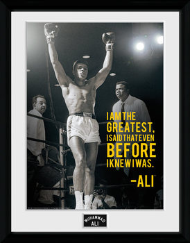 Muhammad Ali - I Am The Greatest üveg keretes plakát