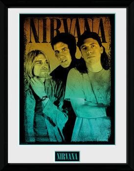 Nirvana - Gradient üveg keretes plakát
