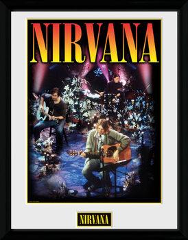 Nirvana - Unplugged üveg keretes plakát