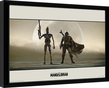 Keretezett Poszter Star Wars: The Mandalorian - Duo