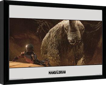Keretezett Poszter Star Wars: The Mandalorian - Rescue