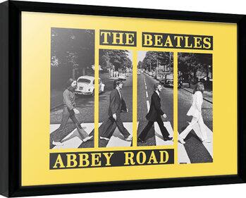 Keretezett Poszter The Beatles - Abbey Road Crosswalk