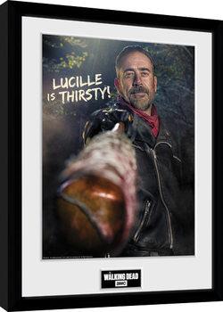 Keretezett Poszter The Walking Dead - Negan Thirsty