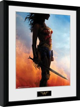 Keretezett Poszter Wonder Woman - Stand