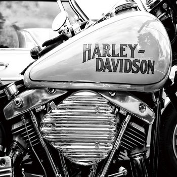 Üvegkép Harley Davidson b&w