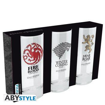 Trónok Harca - Stark, Targaryen, Lannister Üvegpohár