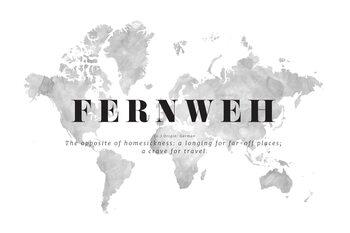 Ilustracija A crave for travel world map