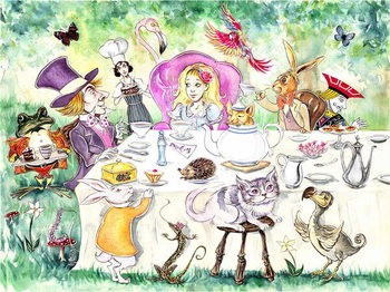 Alice's Adventures in Wonderland by Lewis Carroll Reprodukcija umjetnosti