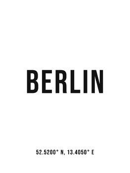 Ilustracija Berlin simple coordinates