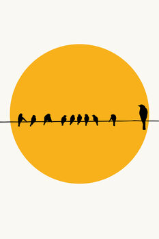 Ilustracija Birds Family