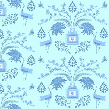 Blue Floral Scent Reprodukcija umjetnosti