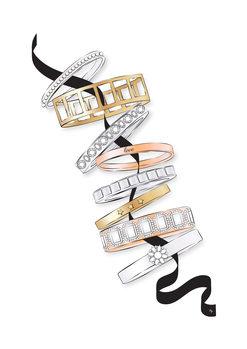 Ilustracija Bracelets