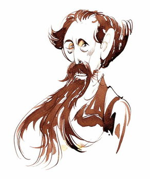 Charles Dickens - caricature Reprodukcija umjetnosti