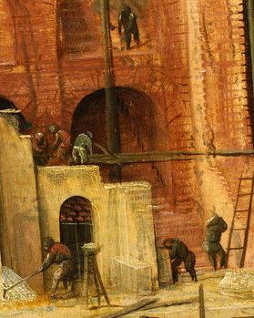 Construction detail from Tower of Babel, 1563 Reprodukcija umjetnosti
