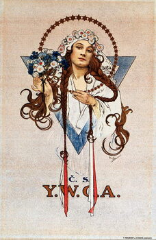 Czechoslovak YWCA Poster for the Young Women's Christian Association YWCA in Czechoslovakia Lithograph by Alphonse Mucha  1922 Dim 54x82 cm Private collection Reprodukcija umjetnosti