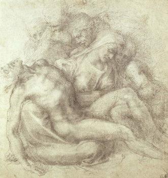 Figures Study for the Lamentation Over the Dead Christ, 1530 Reprodukcija umjetnosti