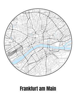 Karta Frankfurt am Main