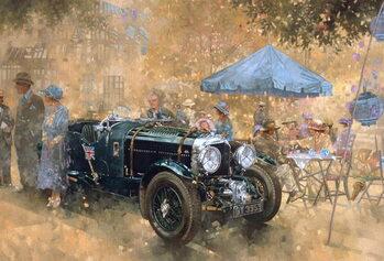 Garden party with the Bentley Reprodukcija umjetnosti