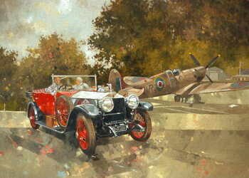 Ghost and Spitfire Reprodukcija umjetnosti